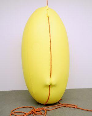 Hans Hemmert, o.T. (gelbe Skulptur passend zu Seil), 1998