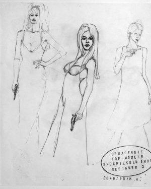 Hans Hemmert, Zeichnung 0046/95, 1995