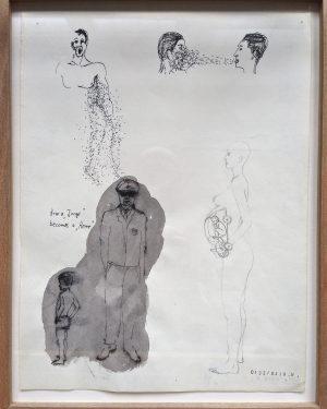 Hans Hemmert, Zeichnung 0132/94, 1994