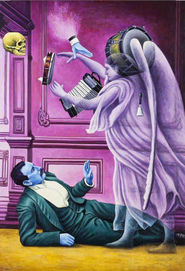 Andrea Zucchi, Il mago Chambly evoca uno spirito, 2011