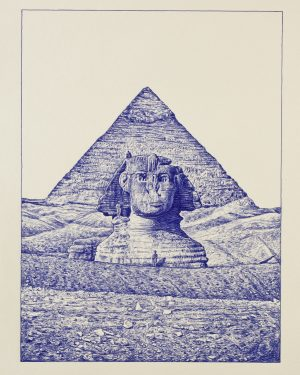 Andrea Zucchi, La Sfinge e la Piramide di Cheope, 2010
