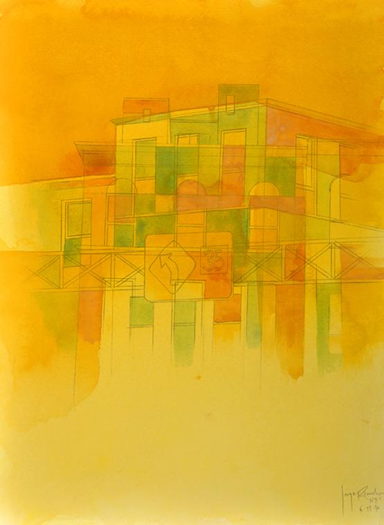 Jorge R. Pombo, NY - VII, Aquarell auf Papier