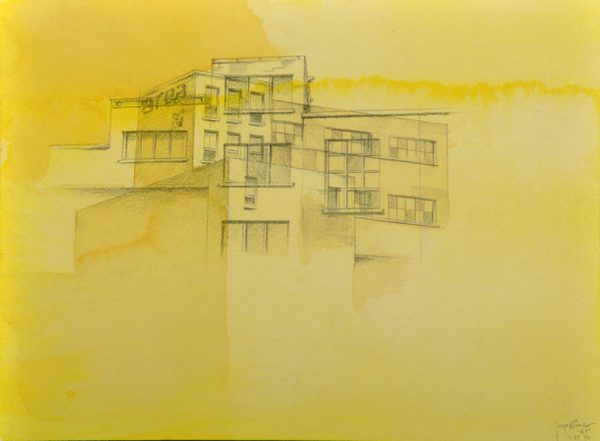 Jorge R. Pombo, NY - II, Aquarell auf Papier