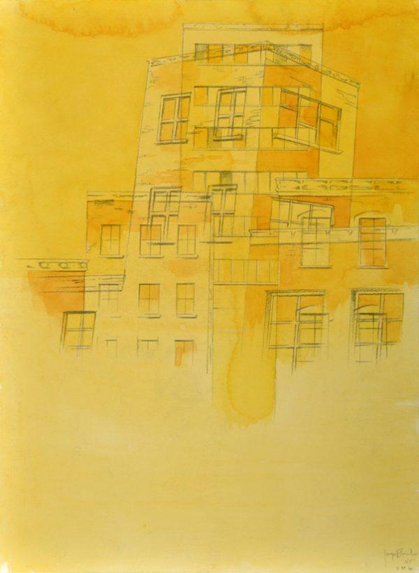 Jorge R. Pombo, NY - III, Aquarell auf Papier