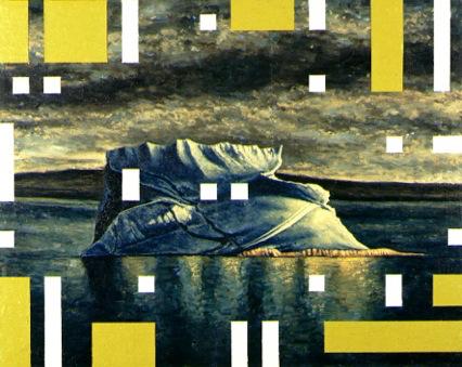 Andrea Zucchi, Quadro polare II (Iceberg), 2000